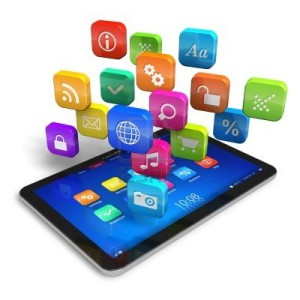 13193008-tablet-pc-with-cloud-of-colorful-application-icons-isolated-on-white-background---design-is-my-own-a
