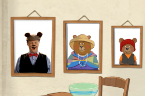 One of the scenes from the Goldilocks app