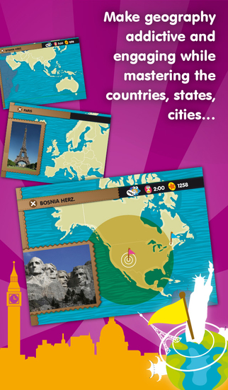 Planet Geo - educational games to learn geography for kids & teenagers-2