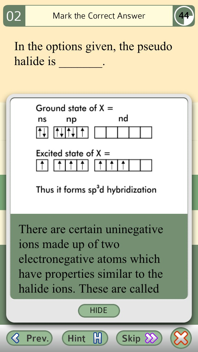 High School : Inorganic Chemistry App - 4