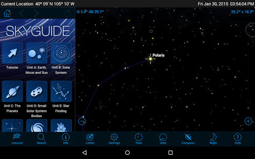 Starry Night Middle School - Astronomy App - 1