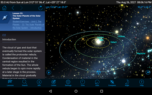 Starry Night Middle School - Astronomy App - 2