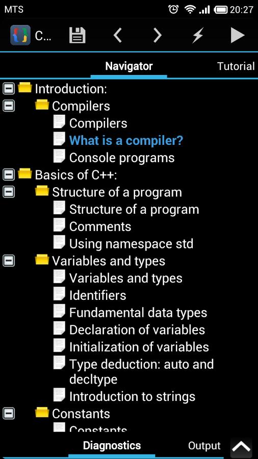 CppDroid - C/C++ IDE App - 3