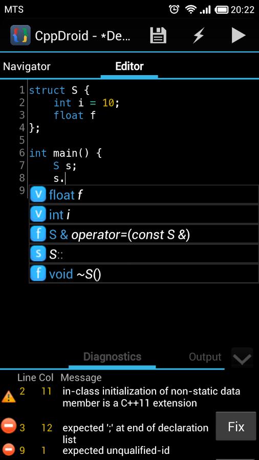 CppDroid - C/C++ IDE App - 7