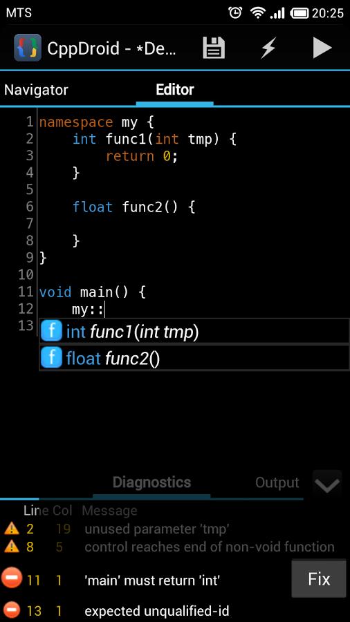 CppDroid - C/C++ IDE App - 8