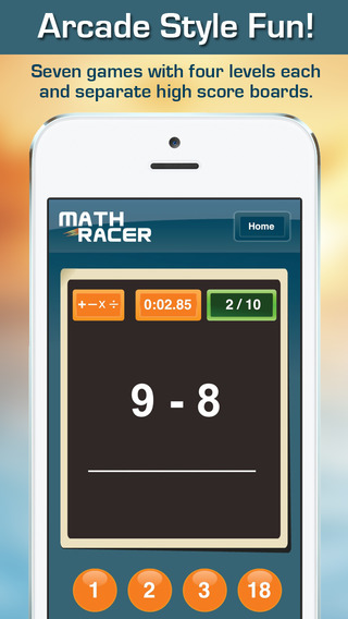 Math Racer 3.0 - Addition, Subtraction, Multiplication and Division Tables Speed Game-1