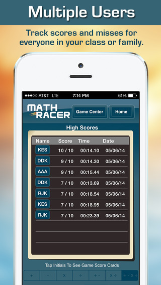 Math Racer 3.0 - Addition, Subtraction, Multiplication and Division Tables Speed Game-2