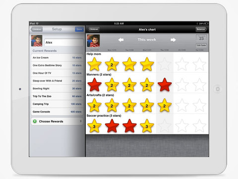 iRewardChart - Reward Tracker Behavior Chore chart for Parents App - 4