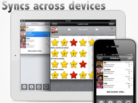 iRewardChart - Reward Tracker Behavior Chore chart for Parents App - 5