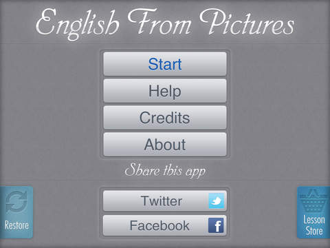 English From Pictures