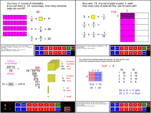 6th Grade Math Common Core App - 1
