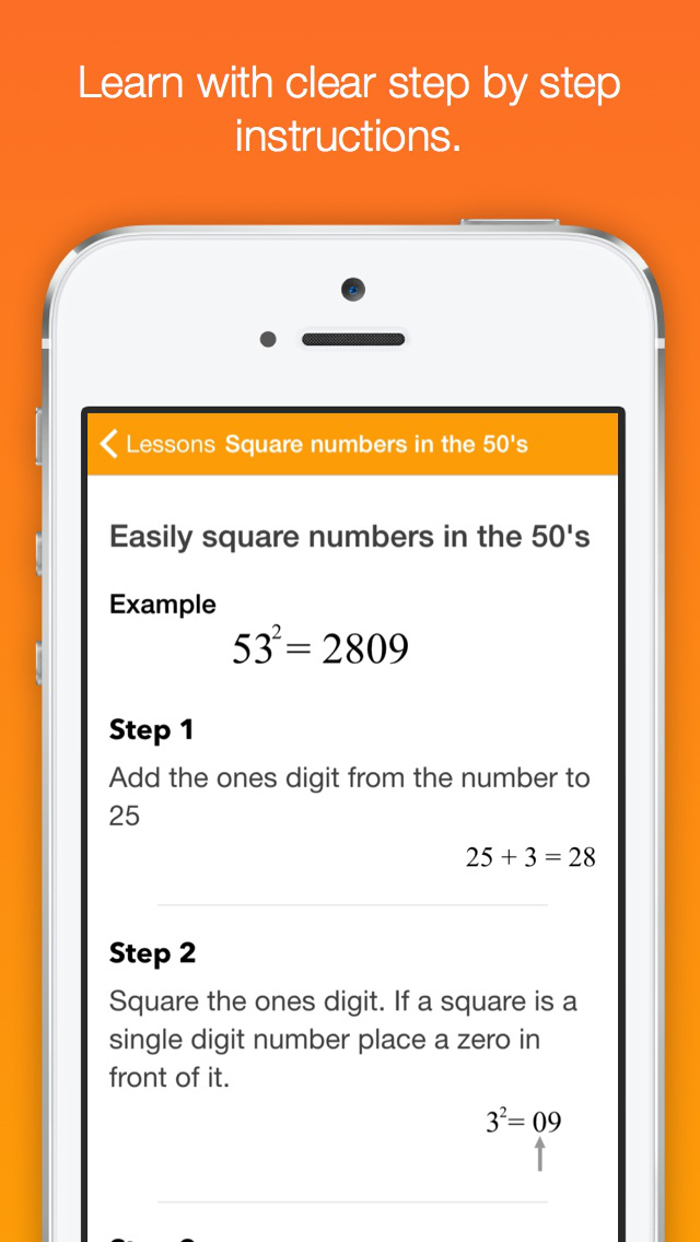Mathemagics - Mental Math Tricks App - 2