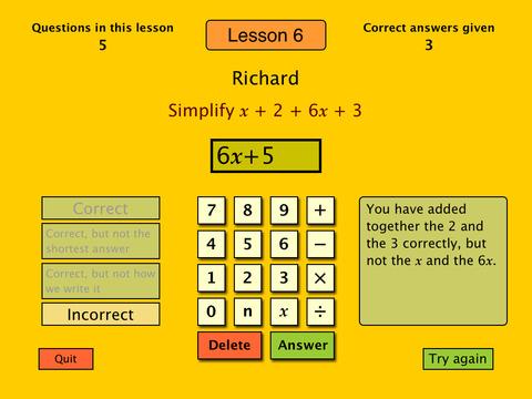 Basic Algebra Tutor-5