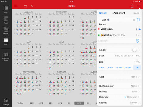 Week Calendar for iPad App - 4
