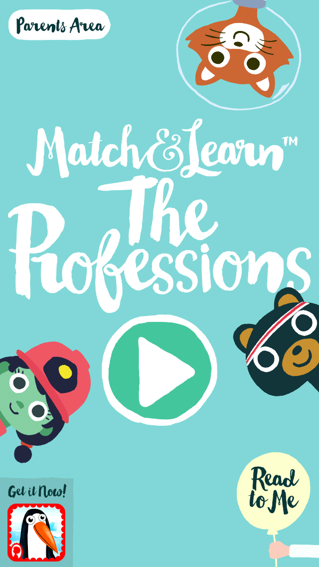 Match & Learn™ The Professions by Petita Demas App - 1