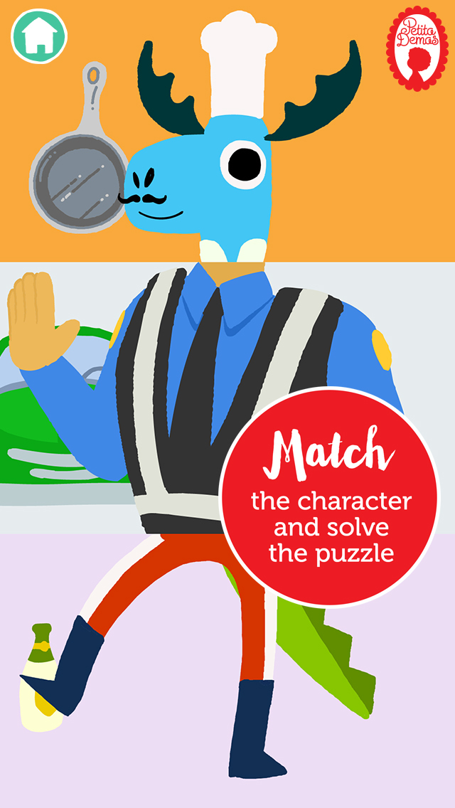 Match & Learn™ The Professions by Petita Demas App - 2