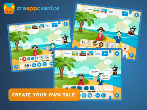 CreAPPcuentos - Create funny stories  of Halloween , Christmas and classic tales and play with the puzzles-2