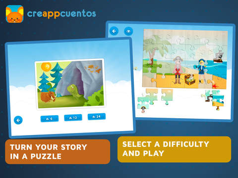CreAPPcuentos - Create funny stories  of Halloween , Christmas and classic tales and play with the puzzles-3