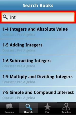 Pre Algebra App - 4