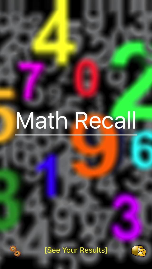 Math Recall App - 1