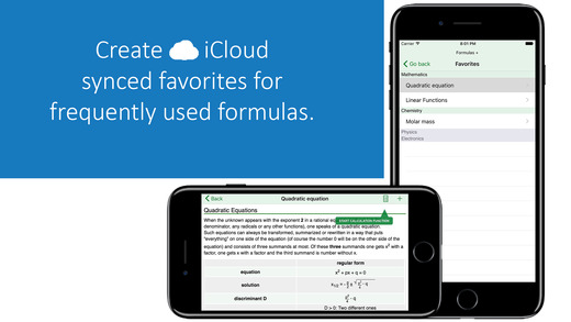 Formulas +, the formulary for mathematics, physics, chemestry and technics, calculation functions with calculating method-3