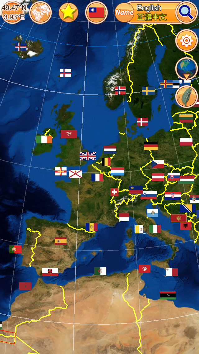 Globe Earth 3D Pro: Flags Anthems and World Time Zones-4