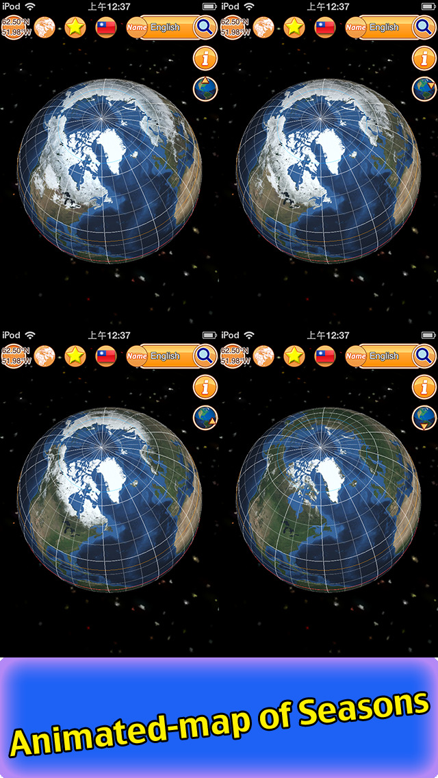 Globe Earth 3D Pro: Flags Anthems and World Time Zones App - 5
