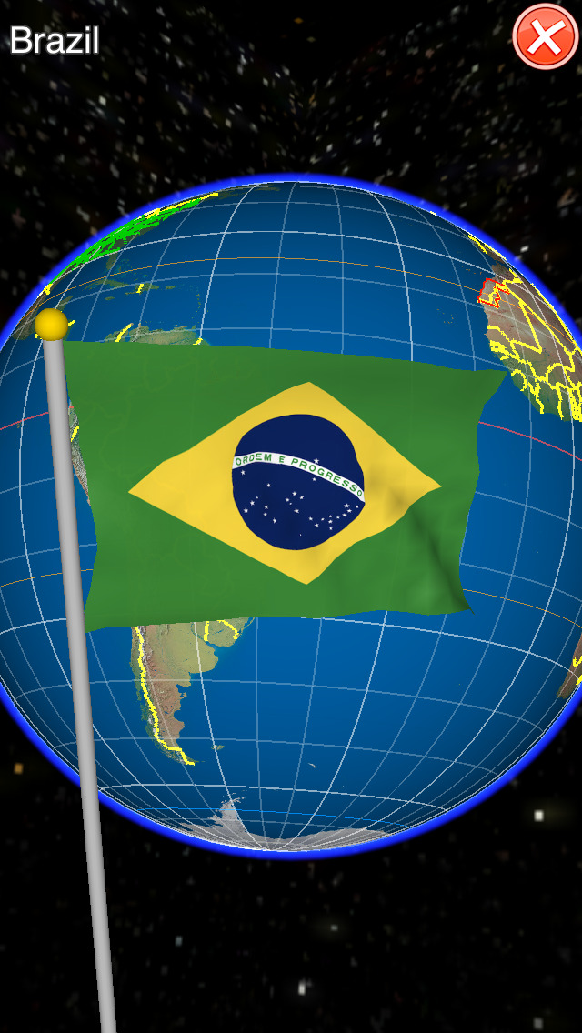 Globe Earth 3D: Flags Anthems and World Time Zones App - 2