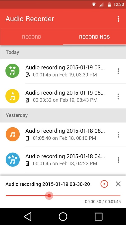 Audio Recorder App - 4
