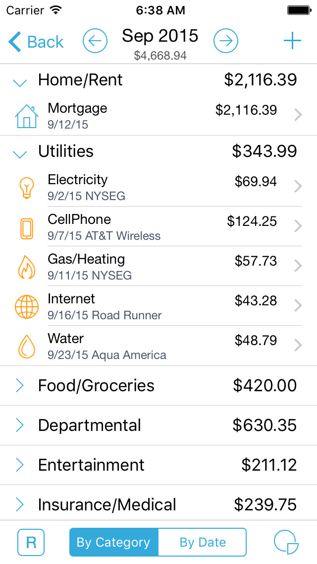 HomeBudget with Sync-2