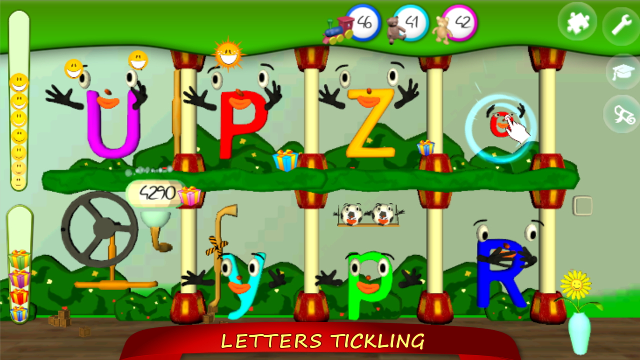 Tickle Letters LITE (Learn Alphabet US)