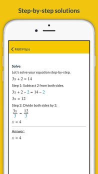 MathPapa - Algebra Calculator & Equation Solver App