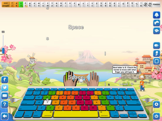 Typing Fingers App - 5