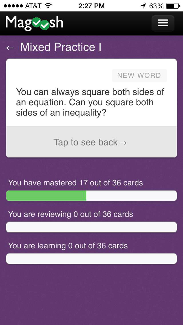 GMAT Math Flashcards from Magoosh App - 1