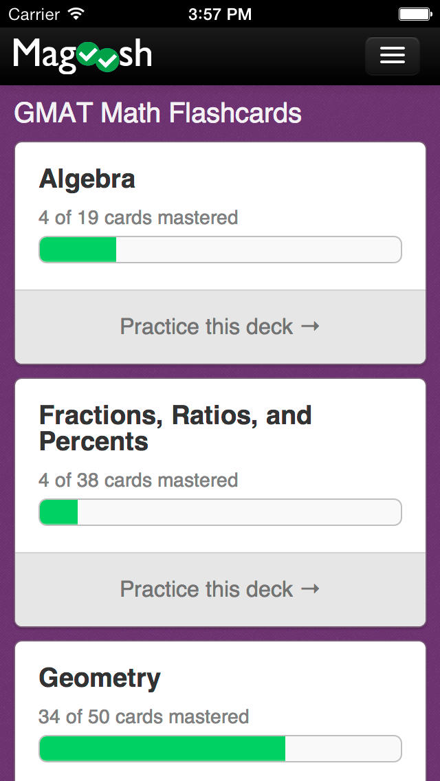 GMAT Math Flashcards from Magoosh App - 3