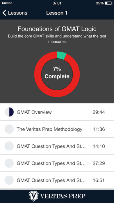 GMAT Video Course App - 3