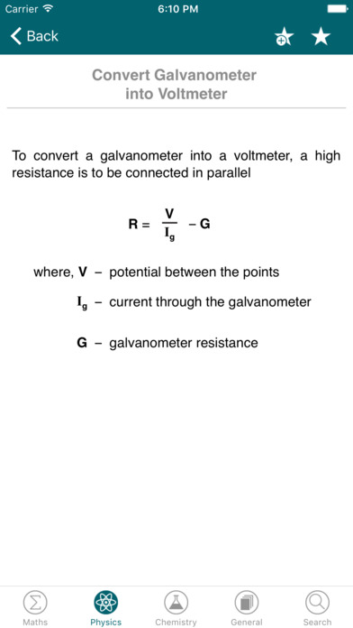 Physics Chemistry Maths Formulas: Formula MAX App - 5