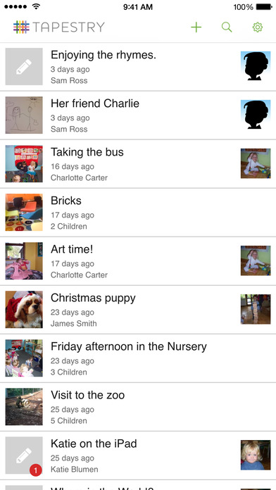 Tapestry Mobile: Online Learning Journal App - 2