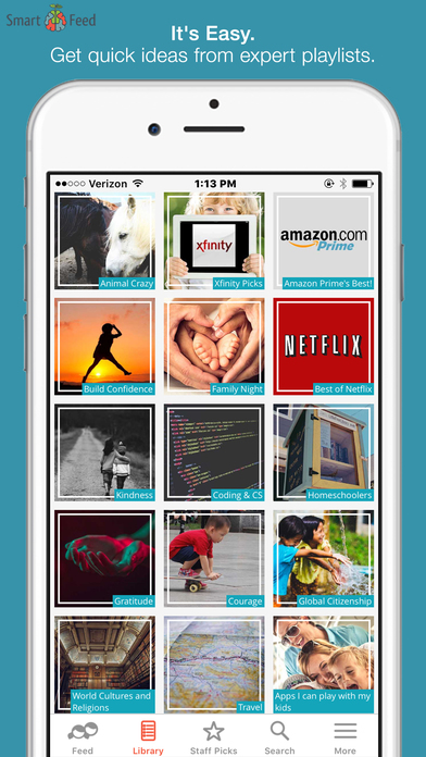 SmartFeed-Find Great Kids' Movies, TV, Apps, Books App - 1