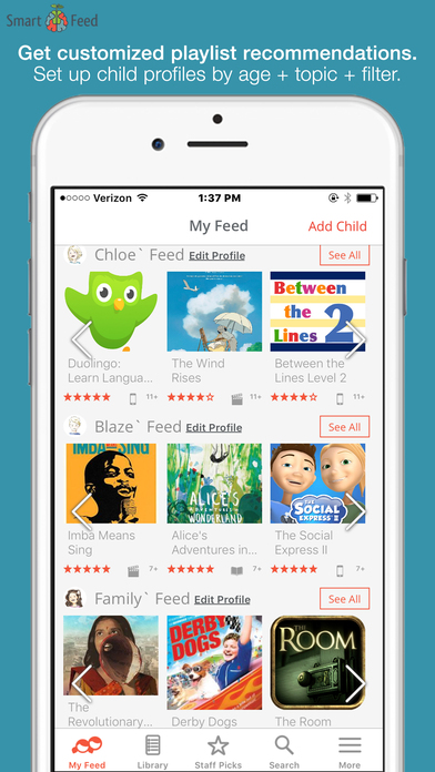 SmartFeed-Find Great Kids' Movies, TV, Apps, Books App - 2