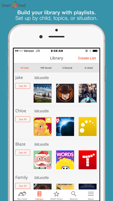 SmartFeed-Find Great Kids' Movies, TV, Apps, Books
