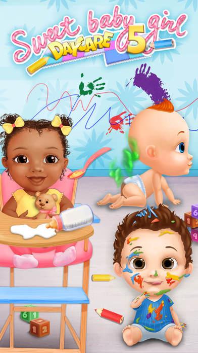 Sweet Baby Girl Daycare 5 - Newborn Nanny Helper App - 1