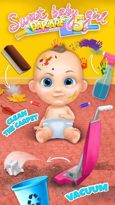 Sweet Baby Girl Daycare 5 - Newborn Nanny Helper App - 3
