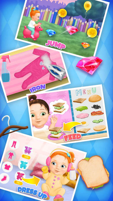 Sweet Baby Girl Daycare 5 - Newborn Nanny Helper App - 5