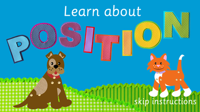 Fido&Pumpkin Position Words App - 1