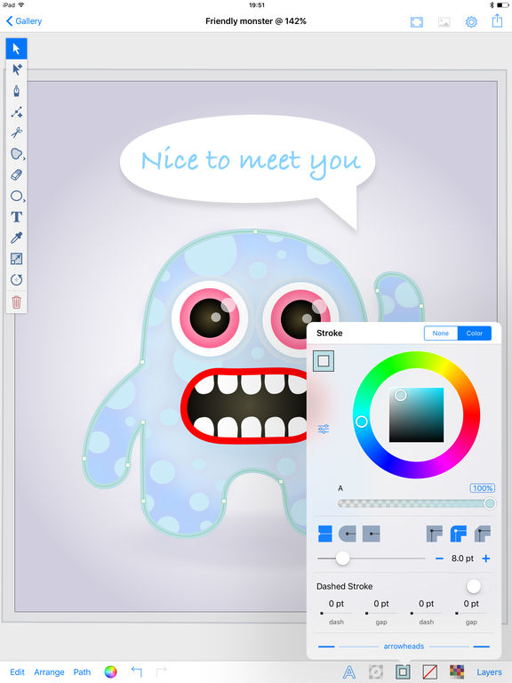 Inkpad - Vector Graphic Design & Illustration App - 2