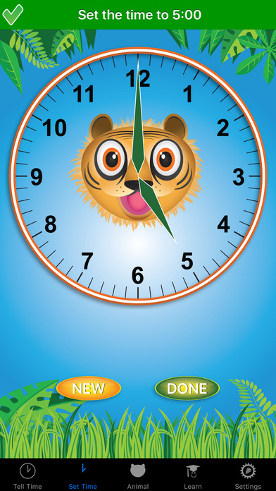 Jungle Time : learn how to tell time-2