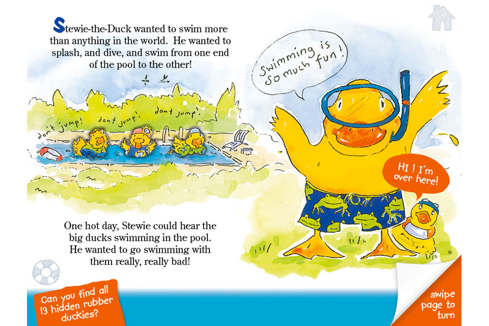 Stewie the Duck Learns to Swim-2