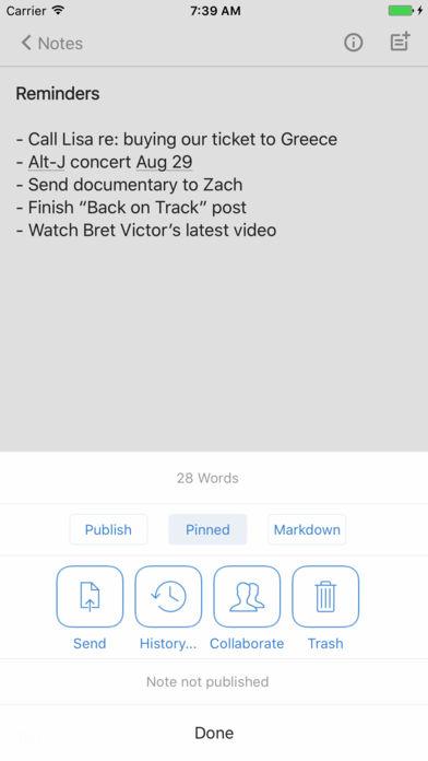 Simplenote App - 4