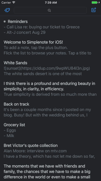 Simplenote App - 5